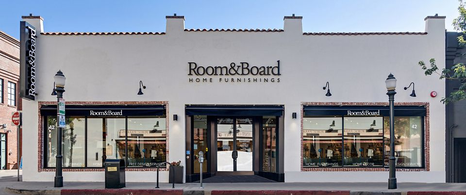 Room & Board Pasadena is a modern furniture store near Los Angeles, California.
