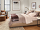 Thea Coverlet with Percale Sheets in Blush