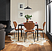 Pike Leather Chairs with Parsons Table