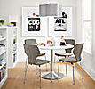 Pike Chairs with Aria Table in Small Space