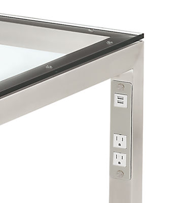 Detail of Portica table with USB port