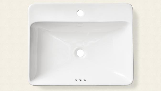 Top down detail of Kohler sink