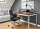 Parsons Desk with USB and Power Outlets