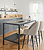 Parsons Counter Table in Graphite with Fog Quartz