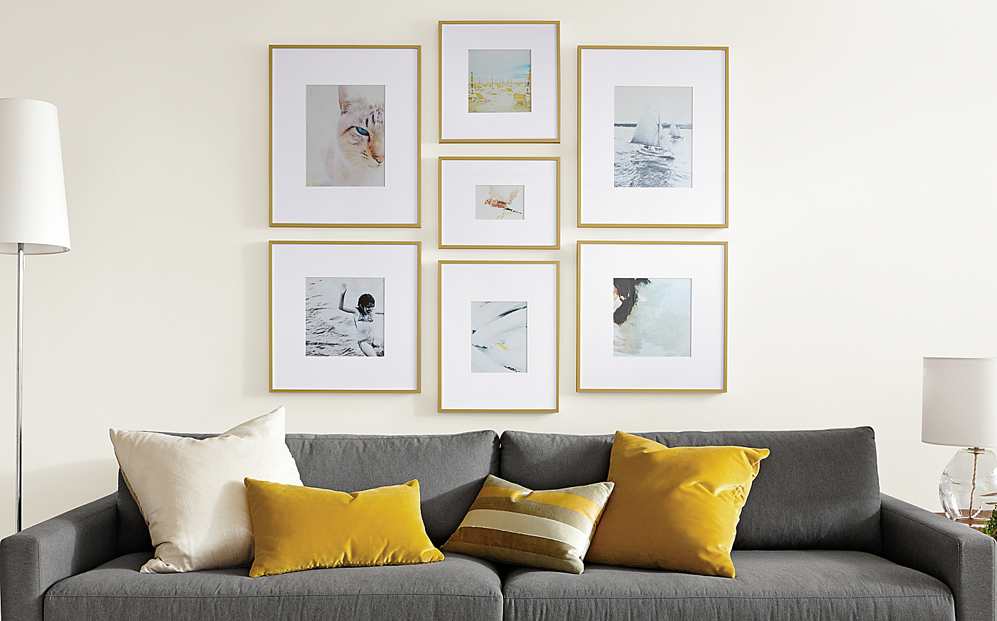 Profile Frame Gallery in Gold