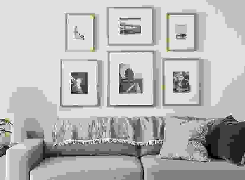 Mixed Grid Frame Wall