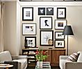 Gunmetal & Black Profile Frame Wall