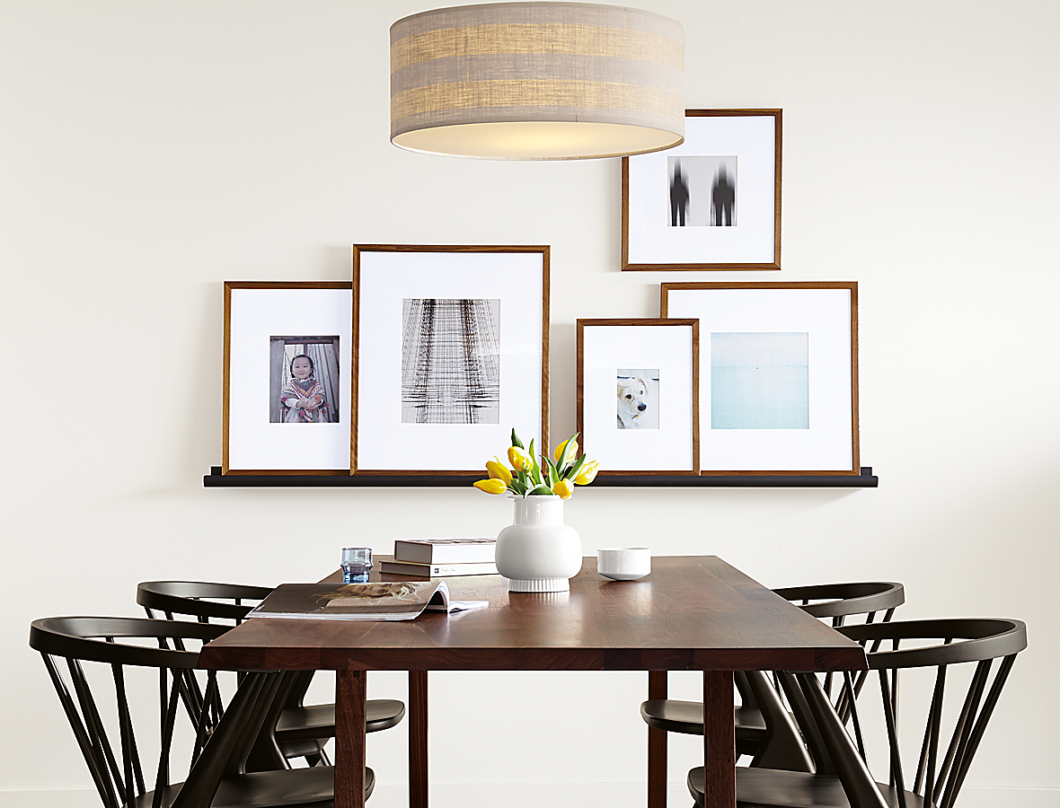 Trace Picture Ledge with Walnut Profile Frames