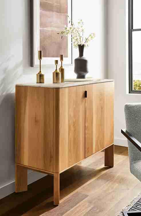 Shop the Pren Bar Cabinet With Cambria Quartz Tops