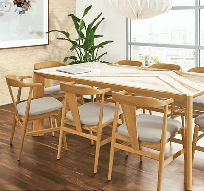 Shop this room with the Pren Table with Cambria Quartz Top