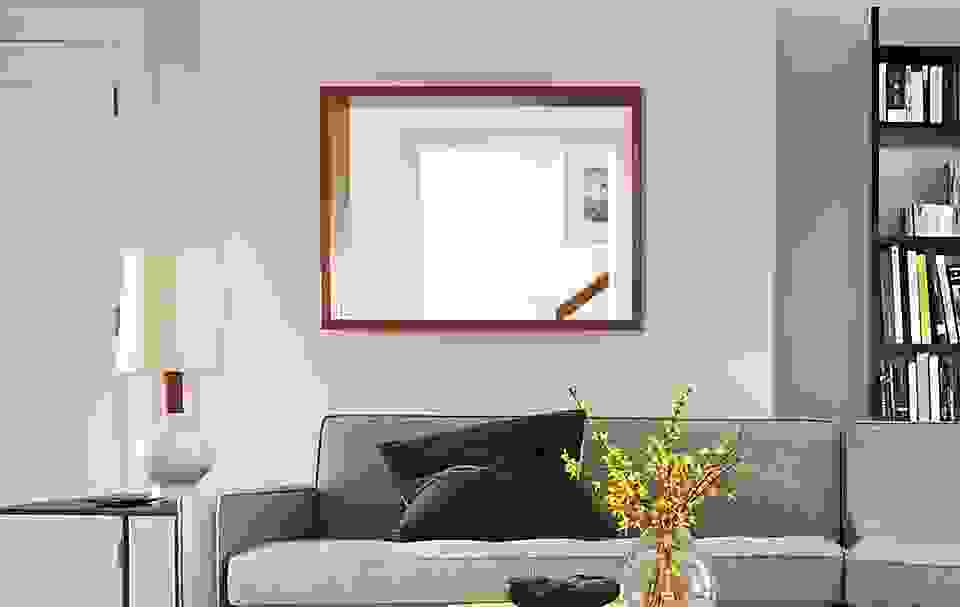 Loft 30x40 Wall Mirror in Walnut