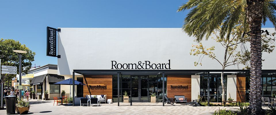 Room & Board San Diego is a modern furniture store connected to Westfield UTC shopping and lifestyle center.