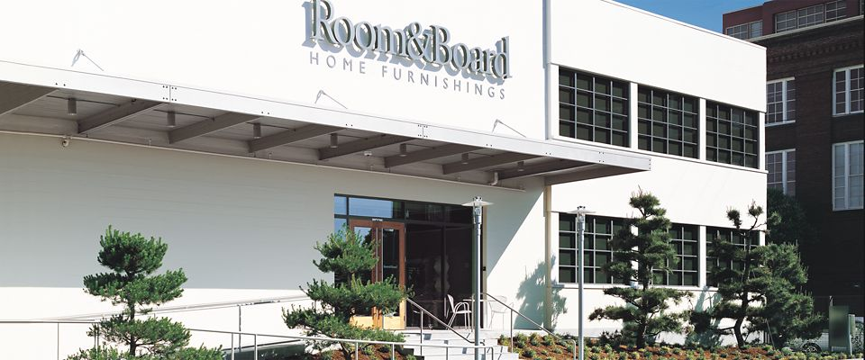 Room & Board San Francisco is a light-filled modern furniture showroom in the SoMa neighborhood.