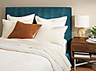 Avery Bed in Banks Lagoon Fabric