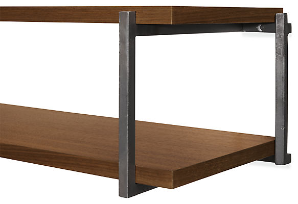 Detail of Stave double wall shelf
