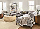 """Sterling 106x102"""" Sectional in Gino Cement"""