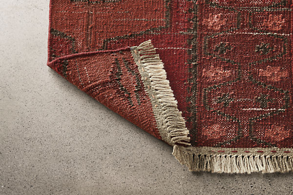 Detail of Tamsa 2x3 rug in rust