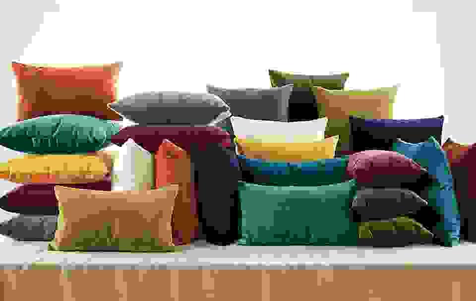 Velvet Pillows in Ten Colors