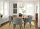 Ventura Dining Table paired with June Chairs