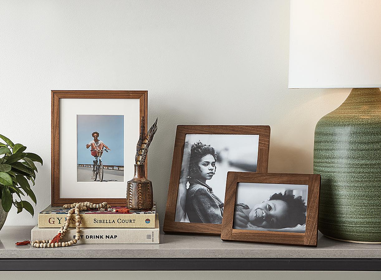 Wilson & Quadra Frames in Walnut
