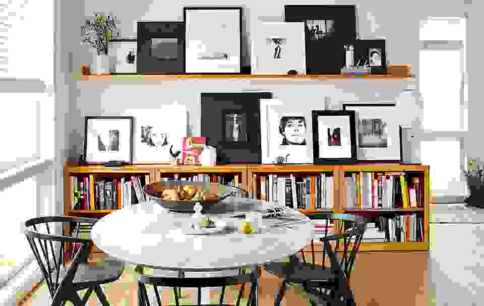 Frame Wall Collage on Mantel Wall Shelves