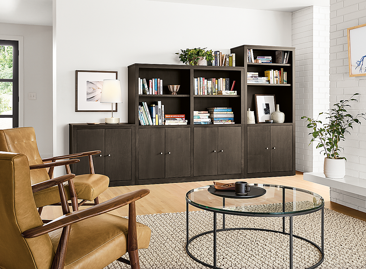 Custom Woodwind in Charcoal Living Room