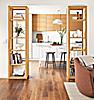 Woodwind Open Bookcases in White Oak