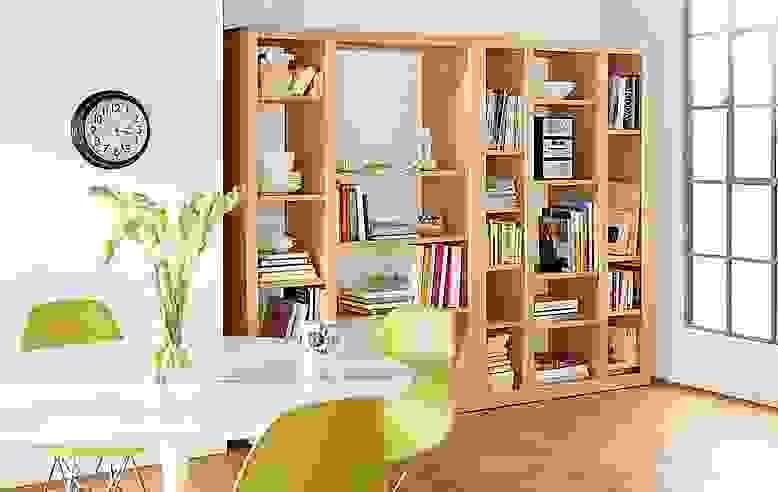 Detail of Woodwind 72 inch open triple bookcase