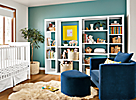 Woodwind Open-back Bookcases in White