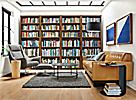 Woodwind 86h Walnut Bookcases