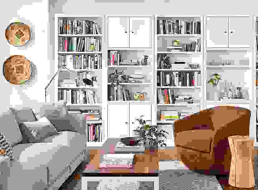 Woodwind 32w 86h Bookcases in White