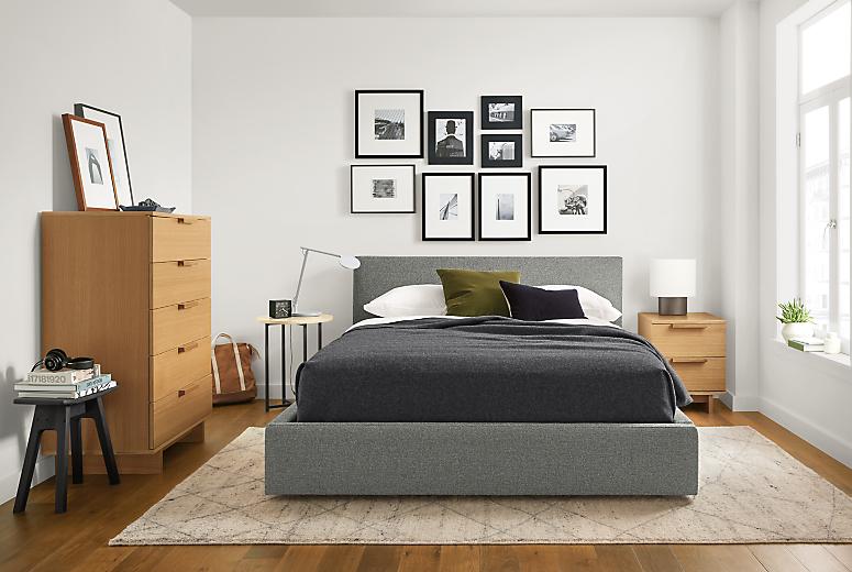 Wyatt fabric bed with Ashby storage