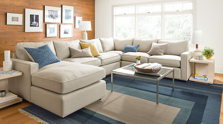 York 4-piece sectional with left arm chaise