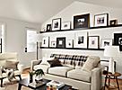 Profile Frames in Living Room